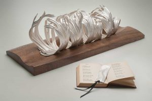 The Company of Old Roads, 999 Fine Silver, walnut, Collected Poems of Edward Thomas. National Museum Wales.