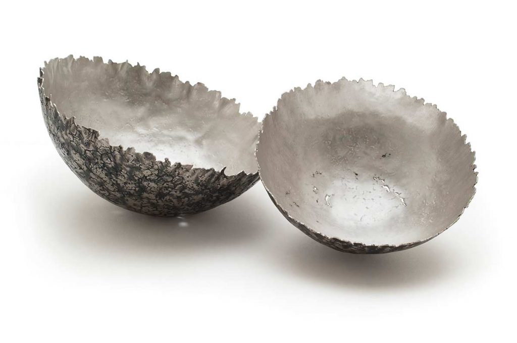 Winter Bowls, 925 Sterling Silver, oxide