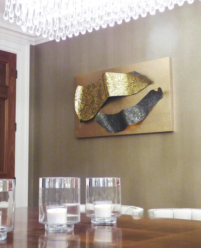 Hampstead 2, tin-plate steel, gold leaf